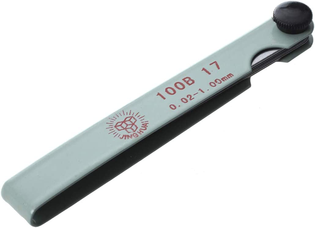 Sandis Calibre Fijo Galga de Espesores Metal Plateado Cuchillas 0.02-1mm Herramienta