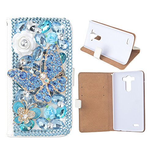 [Bling case] for LG G Stylo,EVTECH(TM) Handmade Bling Crystal Rhinestone Metal Folio Wallet Stand PU Leather Case with cash/card holder For LG G Stylo, H631, MS631, - On Delivery Sunglasses Cash