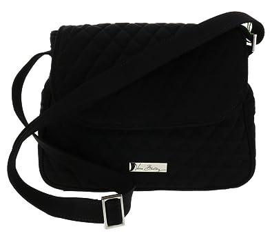 Vera Bradley Medium Flap Crossbody Shoulder Bag Handbag Purse Satchel Tote  in Classic Black 5805f068fd671