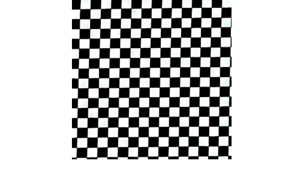 Multiple Size Nutex Fabric Chess Black and white check 100/% Cotton
