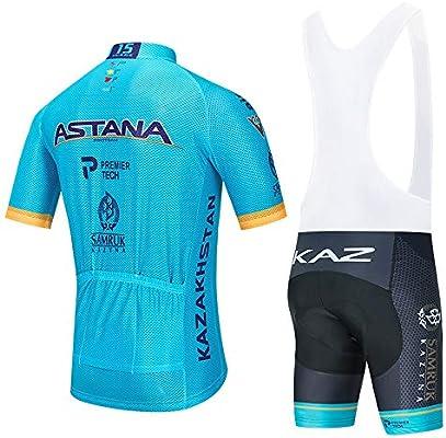STEPANZU Conjunto Ropa Ciclismo Hombre Verano Maillot Ciclismo + Culote Pantalones Cortos Bicicleta Montaña: Amazon.es: Deportes y aire libre