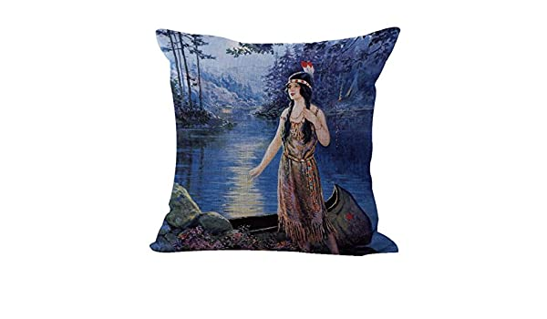 Frank Robert Harper Indian Maiden cushion cover interior decoration US SELLER