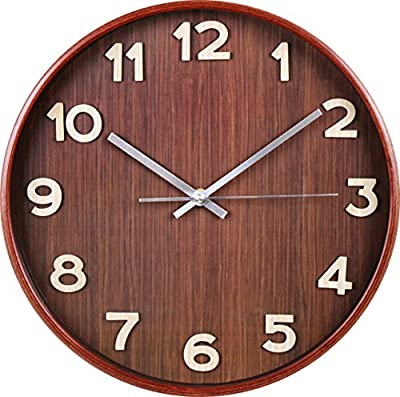 Large Decorative Wall Clock - Universal Non-Ticking Wall Clock - by Utopia Home