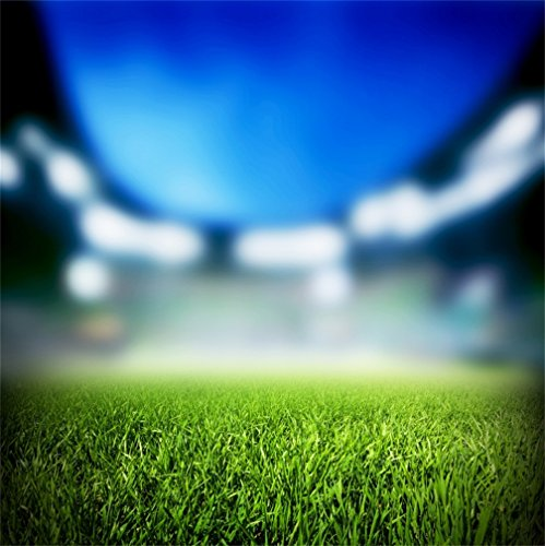 AOFOTO 7x7ft Sport Pitch Grass Field Background Vague Bokeh View Soccer Stadium Vigour Lawn Football Match Court Photography Backdrop Ball Game Photo Studio Props Kid Boy Portrait Vinyl Wallpaper - Infield Grass