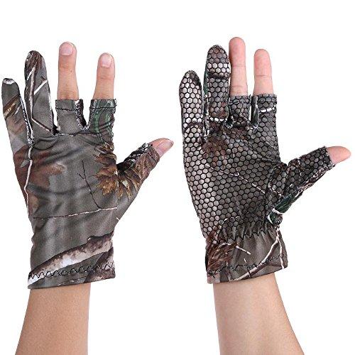 Car accessories - Fish Glove Oak Camo Gel Camouflage Comfortable Anti Slip Thin Stretch Fishing Gloves Skidproof Nonslip 2 Half Finger Mitten Betty Boop Bad Dog