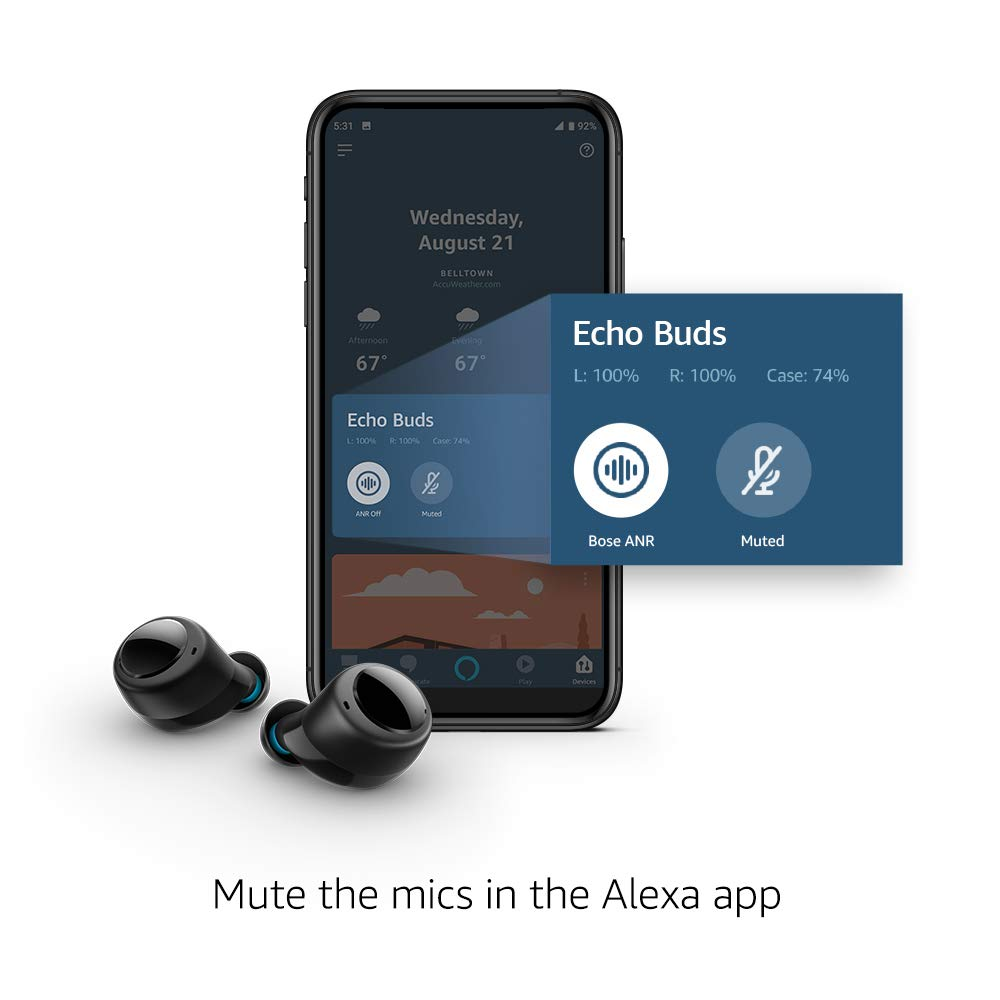 Introducing Echo Buds  Wireless earbuds with immersive sound active noise reduction and Alexa