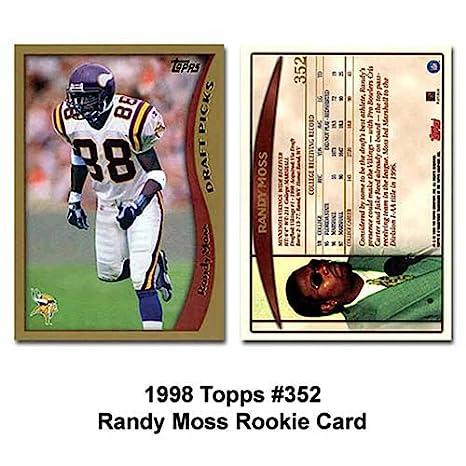 Amazoncom Topps Minnesota Vikings Randy Moss 1998 Rookie