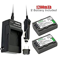 Kastar Battery (2-Pack) and Charger Kit for Sony DVD HandyCam DCR-DVD105 DCR-DVD202E DCR-DVD203 DCR-DVD203E DCR-DVD205 DCR-DVD305 DCR-DVD403 DCR-DVD405 DCR-DVD408 DCR-DVD505 DCR-DVD910 DCR-DVD92