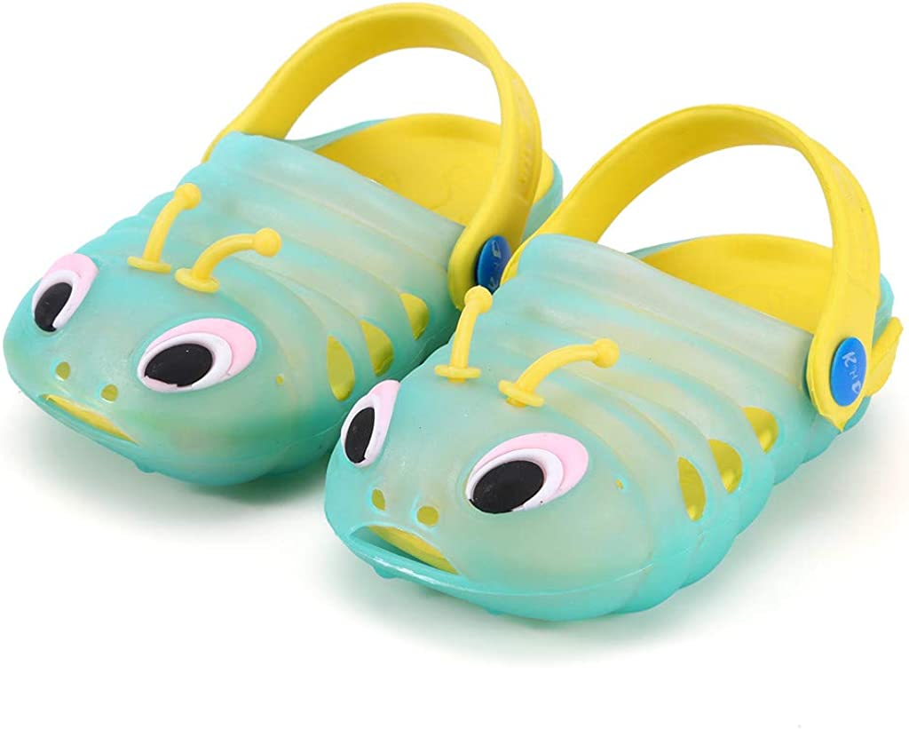 Wave166/® Baby Sandals 3D Cartoon Sandals with Back Strap Led Light Shoes for Boys and Girls Luminous Shoes Kids Toddler Slippers Gifts for Baby Shower