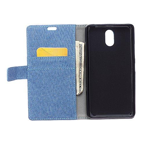 Cover Samsung Galaxy J3 (2017) J330 TOTOOSE Bark Grain Pattern PU Funda de cuero Cierre magnético Flip Stand Cover con ranuras para tarjetas Para Samsung Galaxy J3 (2017) J330 -azul azul