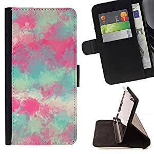 Momo Phone Case / Flip Funda de Cuero Case Cover - Pintura Primavera Naturaleza Arte - LG G2 D800