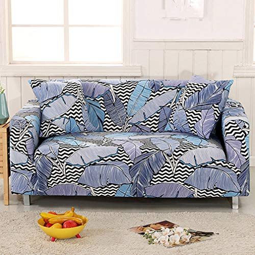 LVYING Sofa Cover Big Elasticity Couch Covers Loveseat Printed Stretch Funiture Flexible Slipcovers 1/2/3/4 (Fabric Slipcovered Loveseat)