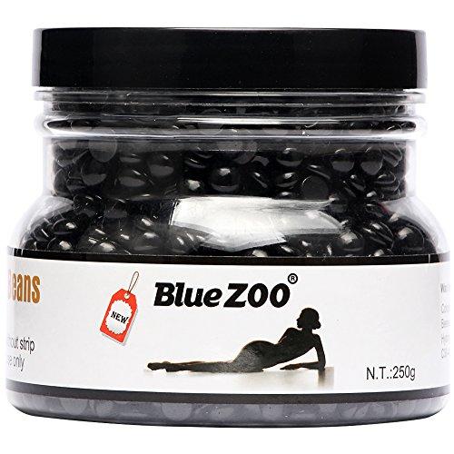 Bluezoo Brazilian Hard Wax Beads Depilatory Solid Hot Film Waxing Pellets for Body Bikini Hair Removal 250g Black