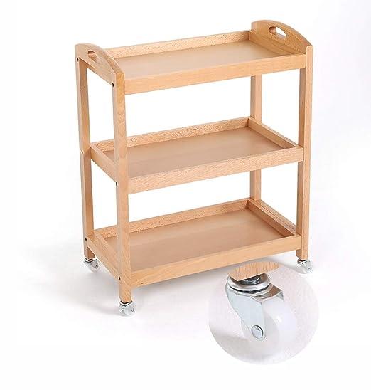 Carros de servicio almacenamiento Estantes de madera sólidos del ...