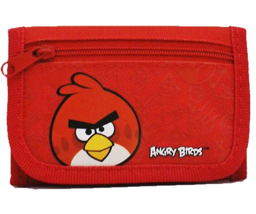 Angry Bird Tri-Fold Red Wallet by Rovio (Official Monster High Costumes)