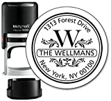 Monogram Address Stamp - Personalized Self Inking Rubber Stamp (MOAD004-SI) - with Locking Bottom Cover