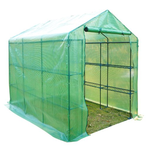 Outsunny 8' x 6' x 7' Outdoor Portable Walk-in Greenhouse