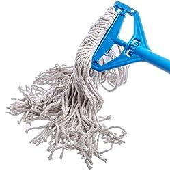 Carlisle 369820B00 Flo-Pac #20 Cotton Narrowband Medium Cut End Wet Mop, 18\