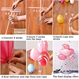 Table Balloon Stand Kit-4 Sets,Reusable Clear