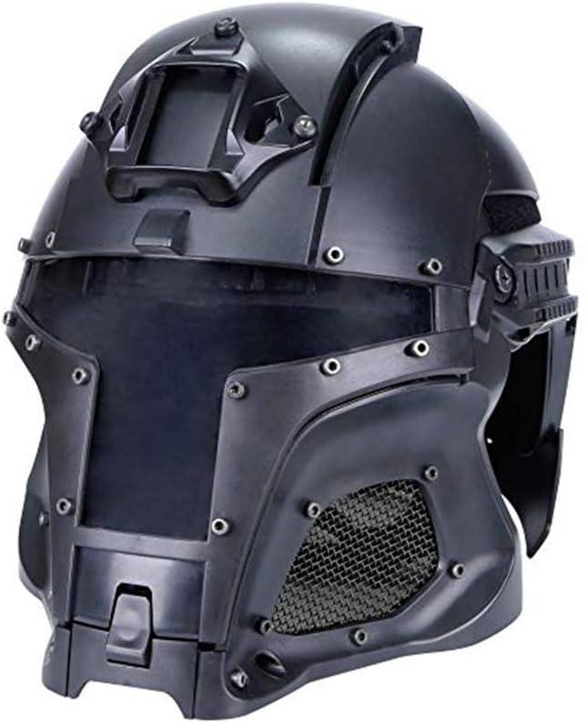 Táctica casco lleno aire de la pistola acoplamiento de la cara Gafas para Airsoft Paintball con cubierto con todas las PC lente del casco accesorios del casco para el disparo CS de juegos de guerra