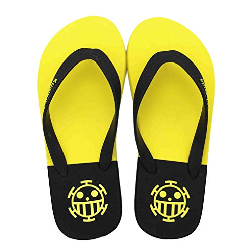 Bromeo One Piece Anime Unisex Flip Flops Chanclas 44