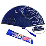 Atongham Personalised Customised Wedding Silk Fabric Bamboo Fans Wedding Fan Baby Shower Birthday Engagement Party Engraved Fans