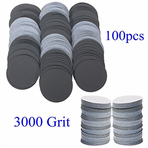 Letbo New 100pcs 25mm 3000 Grit Abrasive Sand Discs Sanding Polishing Pad Sandpaper Lbg