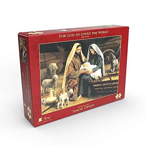 Simon Dewey for God So Loved The World 500 Piece Jigsaw Puzzle
