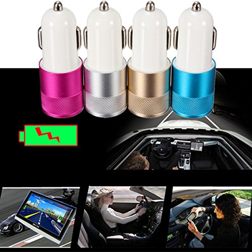 Adaptador universal del cargador del coche de doble puertos USB para iPhone 6 sumsung HTC LG
