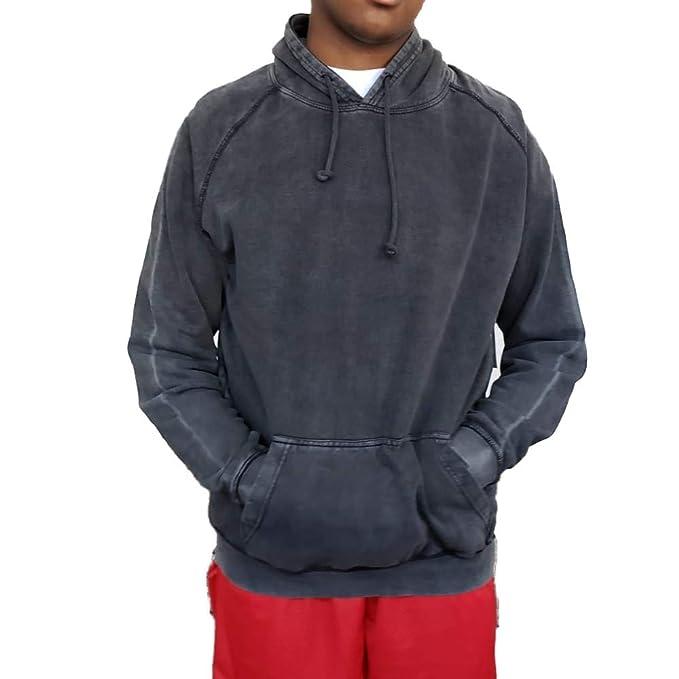 Amazon Com Oak Rye Mens Vintage Washed Hoodie Black L Clothing