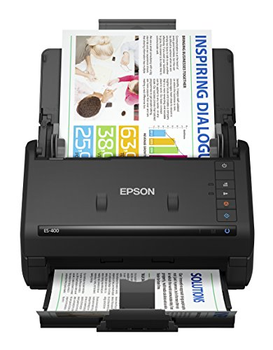 Epson WorkForce ES-400 Color Duplex Document Scanner for PC and Mac, Auto Document Feeder (ADF) from Epson