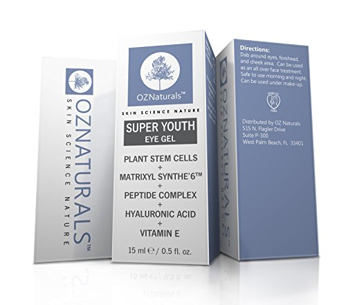 OZNaturals Eye Gel - Eye Cream For Dark Circles, Puffiness, Wrinkles - This Anti Wrinkle Eye Gel Was Voted ALLURE MAGAZINE'S Best In Beauty - The Most Effective Anti Aging Eye Cream Available! (Packaging May Vary)