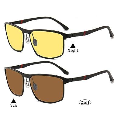 7a1bfba80ac 2in1 Anti-Glare HD night Vision glasses for driving - Polarized sunglasses  Driving Glasses UV400