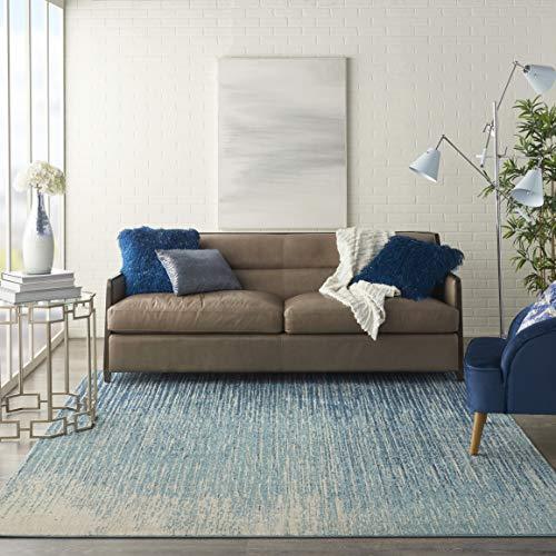 - Nourison PSN09 Passion Modern Abstract Navy/Light Blue Area Rug (8' x 10'), 8'X 10',