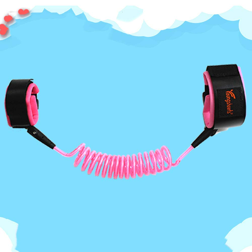 MQC Child Anti-Lost with Traction Rope Anti-Missing Bracelet Baby Traction Rope,Pink,1.5m
