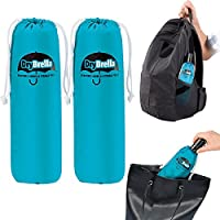 2 Pack Drybrella Microfiber Umbrella Storage Pouch Set Moisture Absorber for Travel Accessories