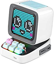 Divoom Ditoo Pixel Art Gaming Portable Bluetooth Speaker with App Controlled 16X16 LED Front Panel, Also a Sma