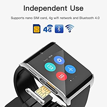 ... 6.0 WIFI BT4.0 ROM 1GB RAM 16GB,Pedometer Distance analysis Heart rate monitor information push SOS Smart Watch (Silver): Cell Phones & Accessories