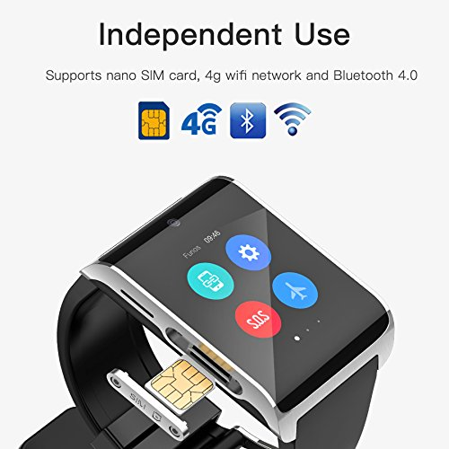 Amazon.com: YIMOHWANG NEW DM 2018 4G Smartwatch,Android 6.0 WIFI BT4.0 ROM 1GB RAM 16GB,Pedometer Distance analysis Heart rate monitor information push SOS ...