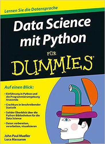 Buy Data Science Mit Python Fur Dummies Fur Dummies Book Online At