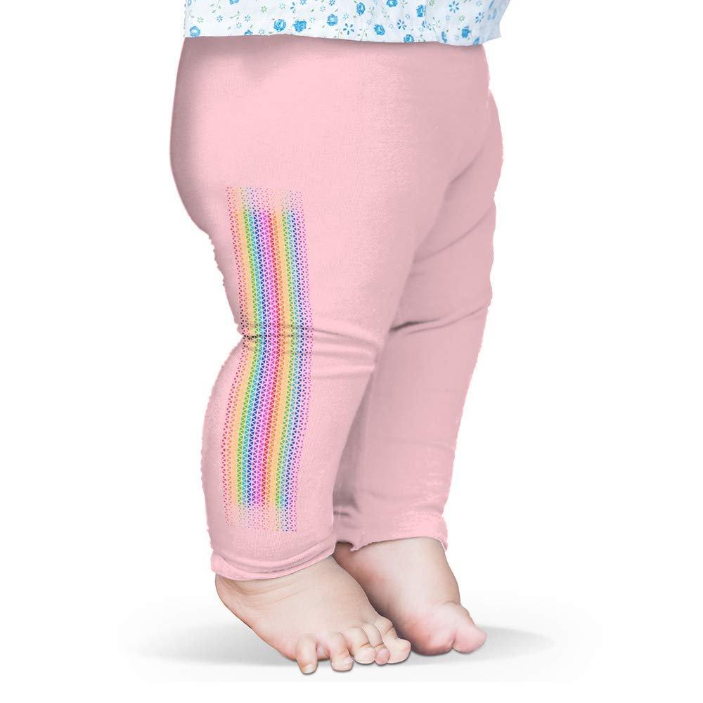 Twisted Envy Baby Pants Rainbow Spectrum Baby and Toddler Girls Leggings