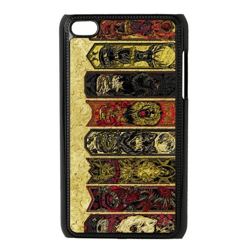 Game of Thrones Cutomize Scratch-Resistant Case Hard Plastic Skin for iPod Touch 4 Cover - Black/White