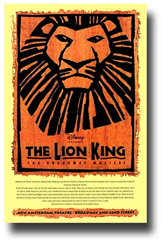 The Lion King Poster Broadway Musical Promo 11 x 17 inches New York City New Amsterdam ()