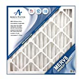 12x24x2 Pleated Air Filter MERV 8 - Highest Quality - 3 Pack - Actual Size: 11 ⅜ 23 ⅜ X 1 ¾