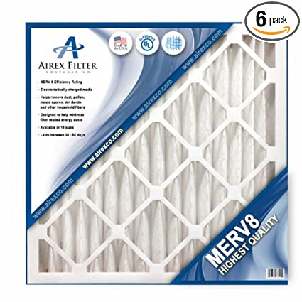14x30x1 pleated air filter merv 8 - highest quality - 6 pack ...