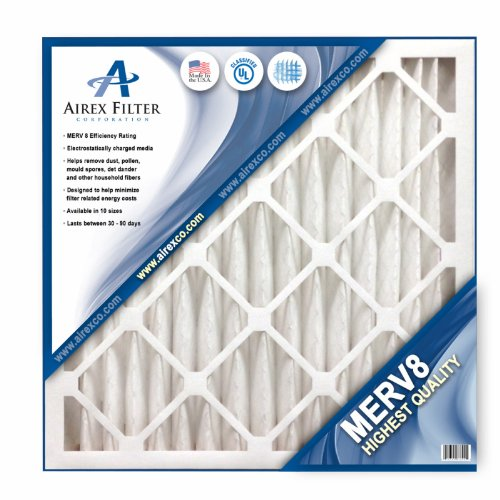 18x24x2 Pleated Air Filter MERV 8 - Highest Quality - 3 Pack - Actual Size: 17 ⅜ X 23 ⅜ X 1 ¾
