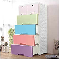 YUTING Portable Plastic Clothes Closet Wardrobe Storage Organizer, Quick and Easy to Assemble, Extra Strong and Durable For Home, Office, Nursery, Closet, Bedroom, Living Room ¡­