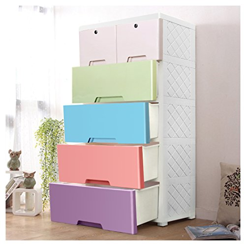 YUTING Portable Plastic Clothes Closet Wardrobe Storage Organizer, Quick and Easy to Assemble, Extra Strong and Durable For Home, Office, Nursery, Closet, Bedroom, Living Room ¡