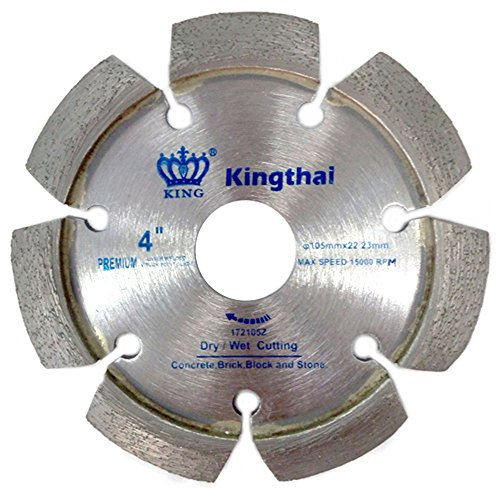 Mortar Removal - Kingthai 4 Inch Laser Welded Crack Chaser Tuck Point Diamond Blade for Concrete Mortar Removal