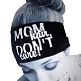 HighlifeS Head Sweatbands - Athletic Cotton Terry Cloth Headbands for Sports (Black)